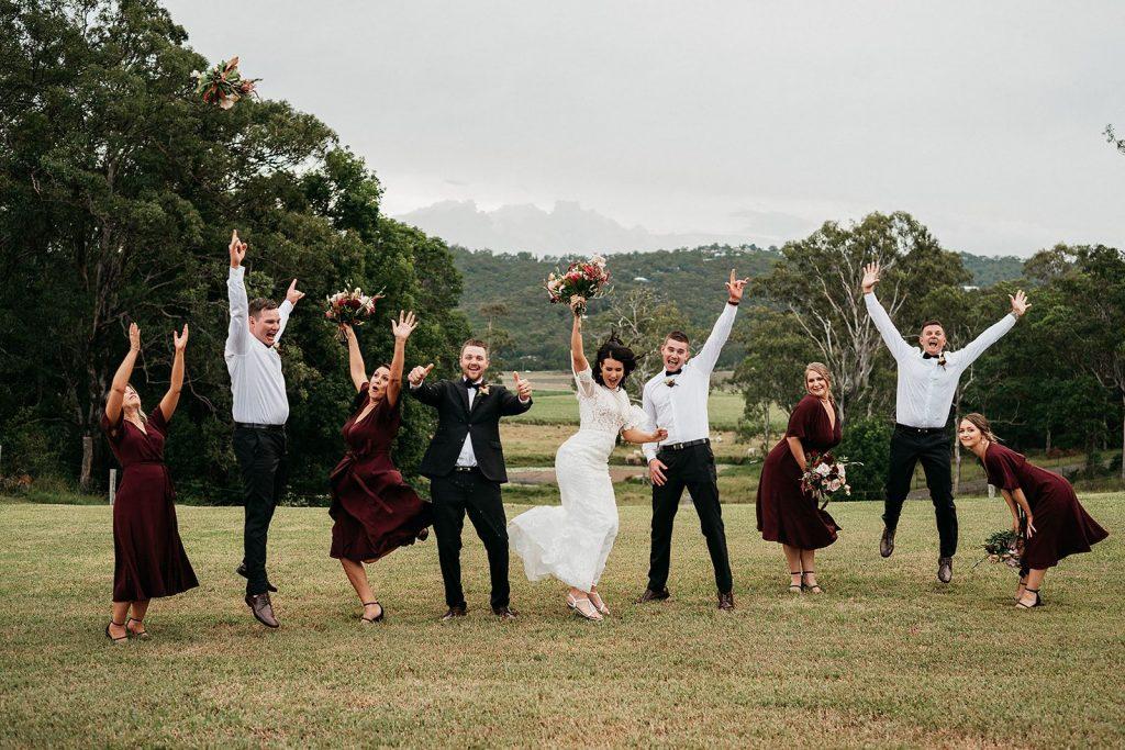 Wedding Party fun hobart ceremony